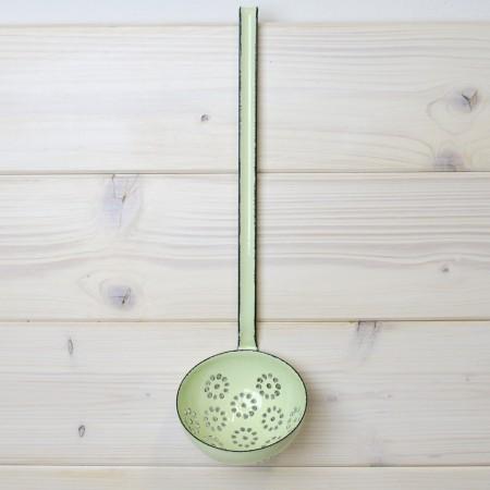 Naběračka děrovaná Riess zelená