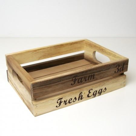 Dřevená bedýnka na vajíčka