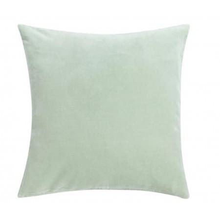 Potah na polštář Velvet frosty green 45x45cm včetně výplně