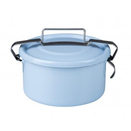 Smaltovaný jídlonosič Riess modrý