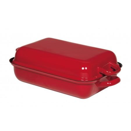 Pekáč s poklopem Riess  červený
