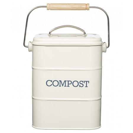 Dóza na kompost krémová Living Nostalgia