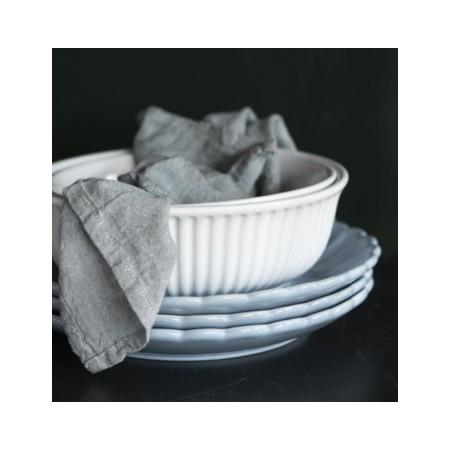 Keramická salátová mísa Mynte White