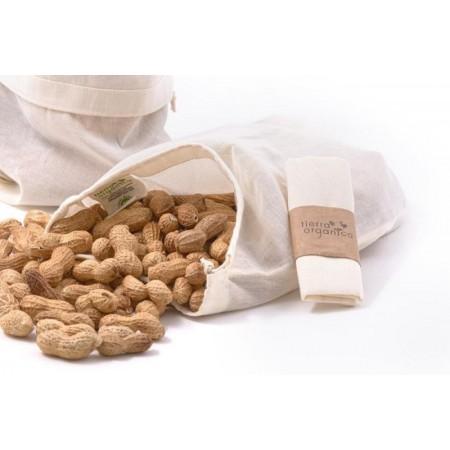 Malý plátěný sáček na potraviny z biobavlny