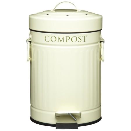 Koš na kompost krémový