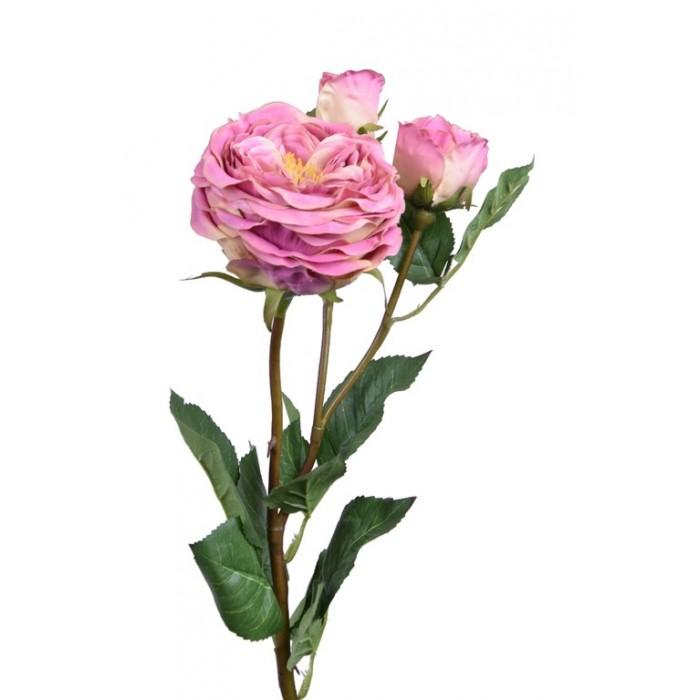 Umělá květina Růže starorůžová