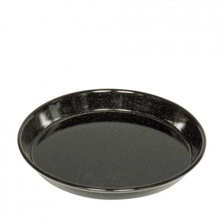 Smaltovaný plech na koláč/pizzu 28cm Riess černý