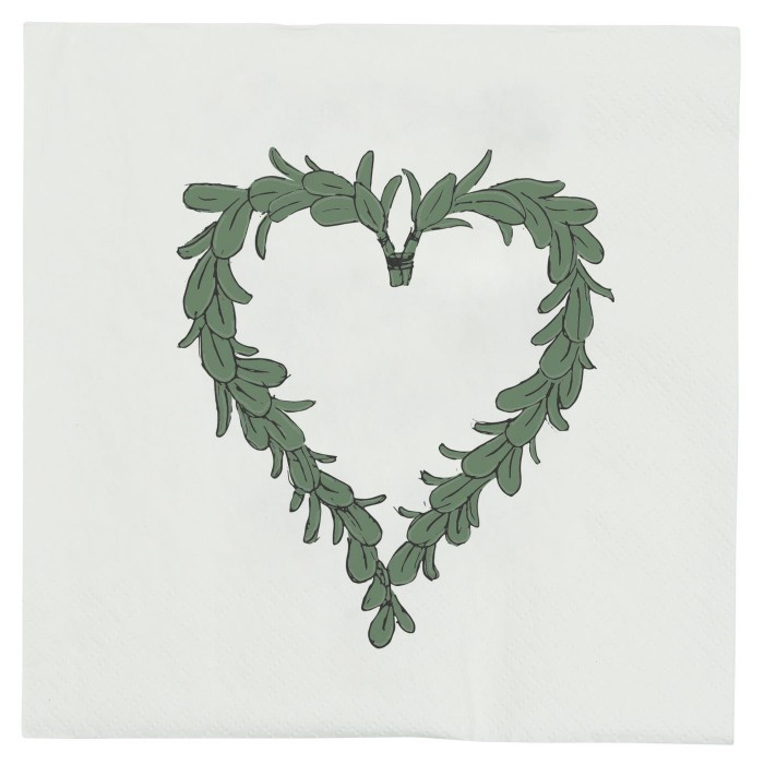 Papírové ubrousky Mistletoe heart