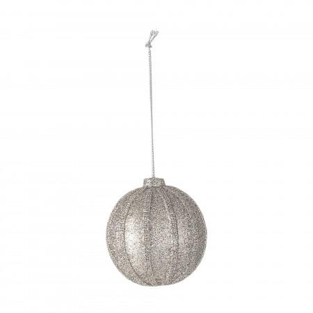 Stříbrná koule s třpytkami
