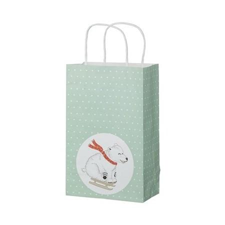Vánoční papírová taška Bear