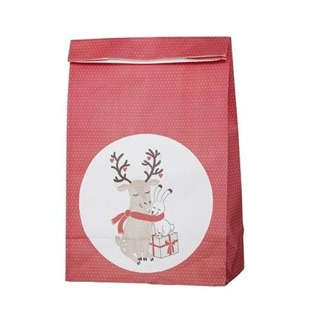 Vánoční papírový sáček Deer