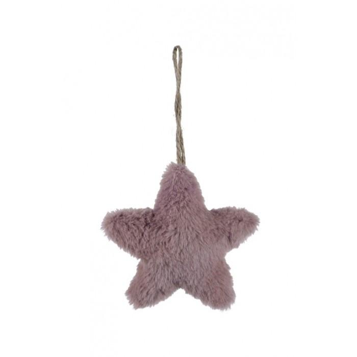Závěsná hvězda růžová malá