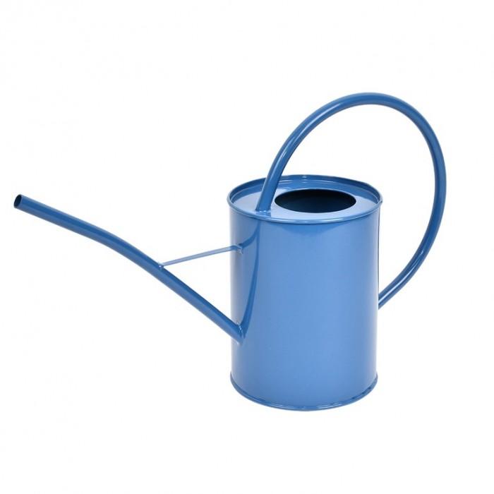 Plechová konev na květiny dark blue 13cm