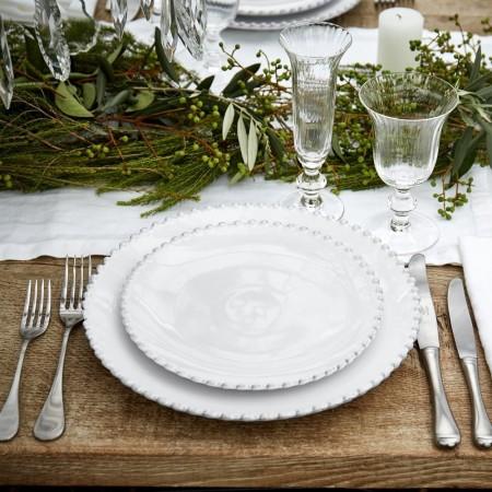 Jídelní talíř Pearl bílý 28cm