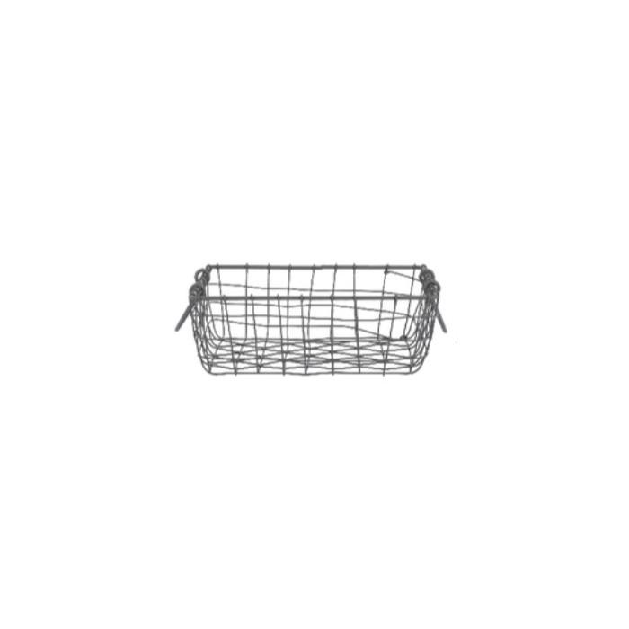 Drátěný košík s uchy čtvercový střední 27x27cm