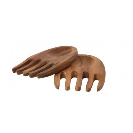 Dřevěný příbor na salát Tuscany hands