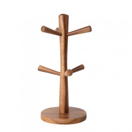 Dřevěný stojan na hrnky přírodní