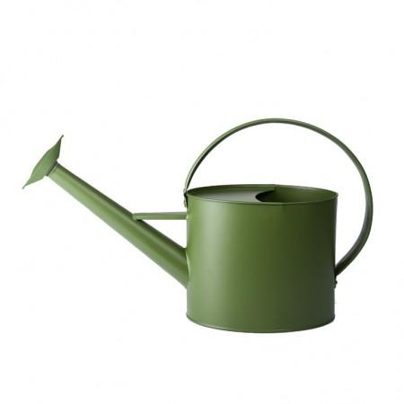 Plechová zahradní konev tmavě zelená 4,3l