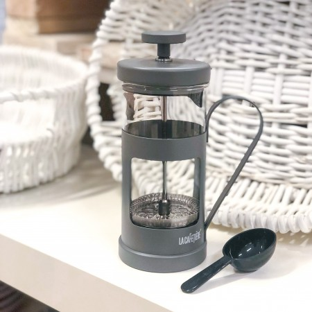 Konvička na french press Monaco 350ml šedá matná