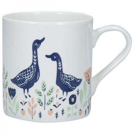 Porcelánový hrnek Woodcut Goose 330ml