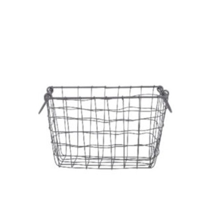 Drátěný košík s uchy malý 30x20cm