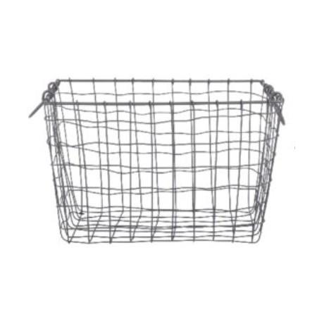 Drátěný košík s uchy velký 40x30cm
