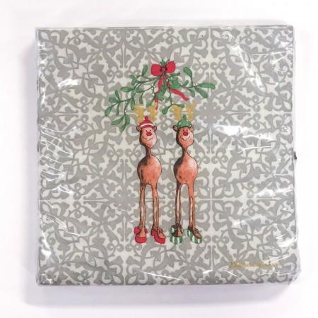 Papírové ubrousky Rudolph