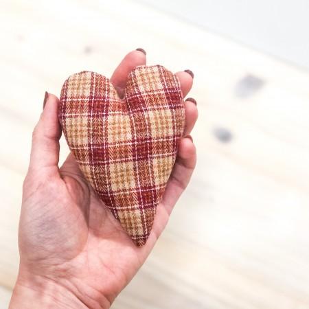 Látkové závěsné Srdce