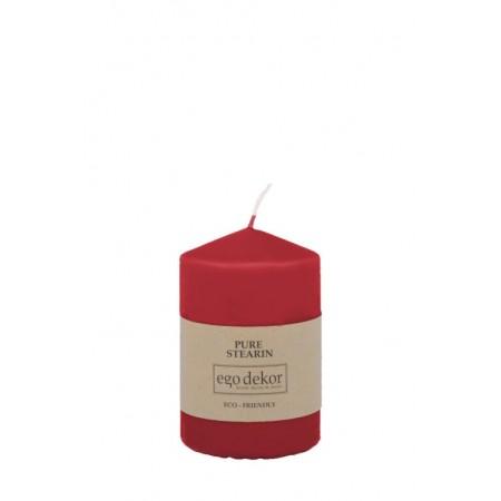 Červená svíčka 10cm