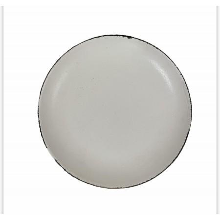 Bílý dekorativní talíř s patinou 28,5cm