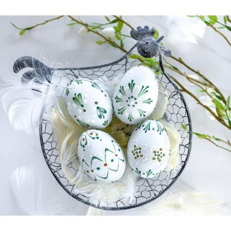Velikonoční madeirové kraslice kachní zelené 4ks