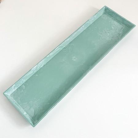 Úzký dekorativní podnos Green 43x12cm