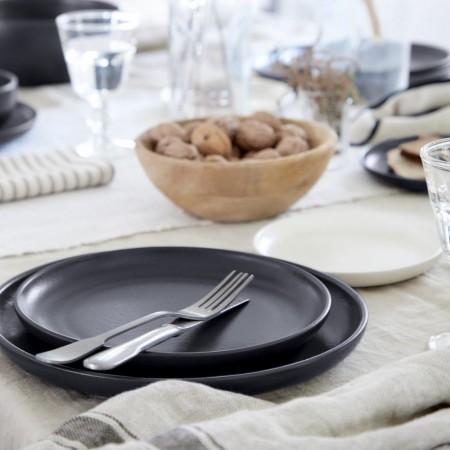 Mělký jídelní talíř Pacifica seed grey 27cm