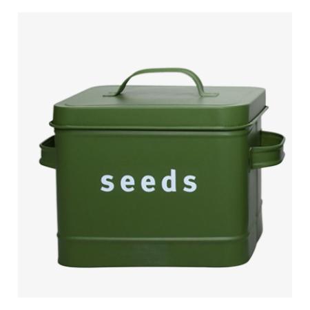 Plechová dóza na semínka Seeds sytě zelená