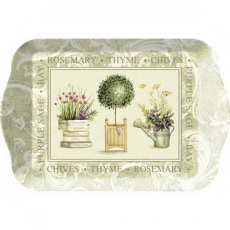 Melaminový tácek Topiary 21x14cm