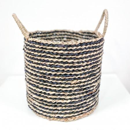 Dekorativní koš z mořské trávy Stripe 26cm