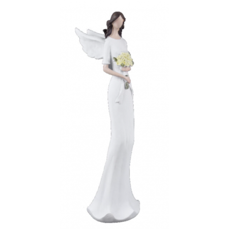 Anděl Mariana se žlutými květinami 16cm