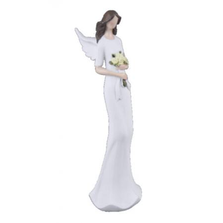 Anděl Mariana se žlutými květinami 14cm