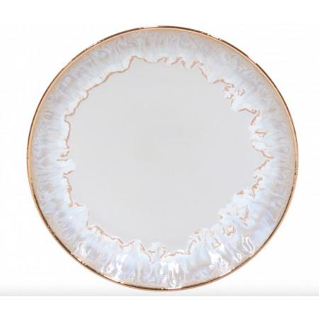 Dezertní talíř se zlatým okrajem Taormina 22cm