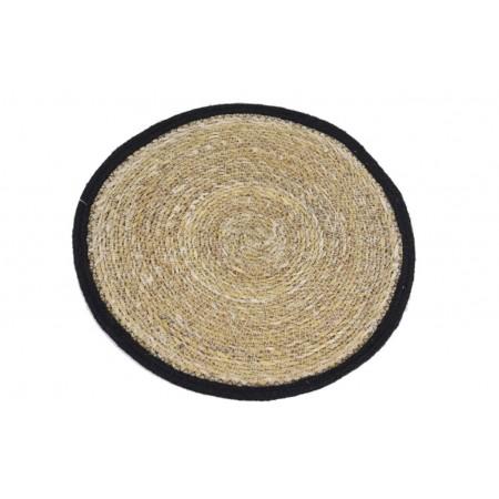 Prostírání z mořské trávy s černým lemem 38cm