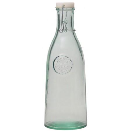 Skleněná recyklovaná láhev s uzávěrem 1l