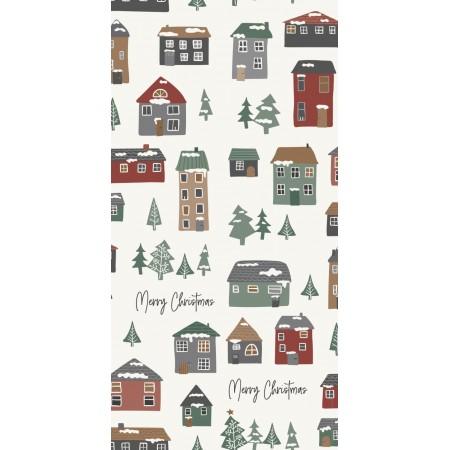 Papírové vánoční ubrousky Houses Ib Laursen