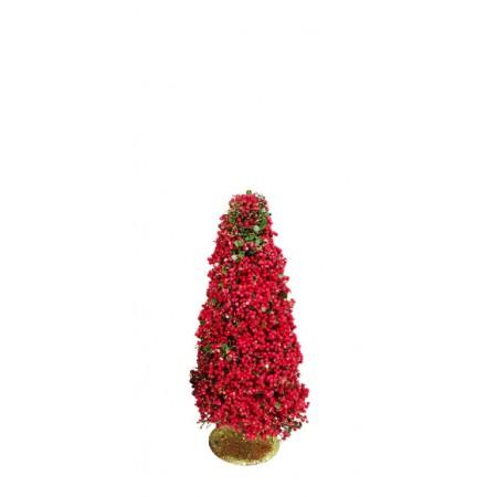 Dekorativní stromek s červenými bobulemi Barla 40cm
