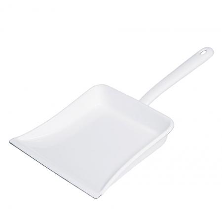 Smaltovaná úklidová lopatka bílá Riess 39x25cm