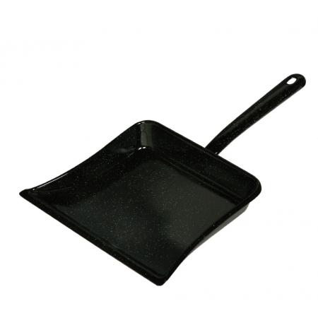Smaltovaná úklidová lopatka černá Riess 39x25cm