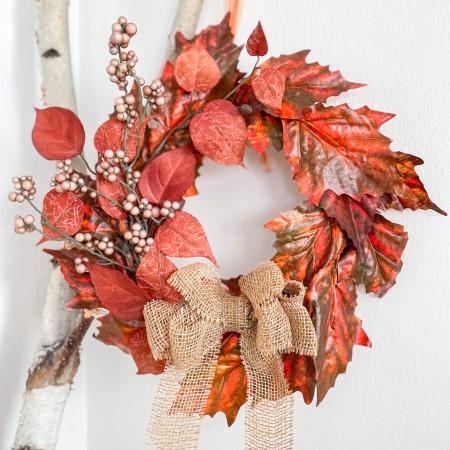 Dekorativní věnec na dveře Podzim 20cm